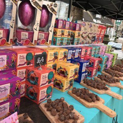 Easter Truffle balloon egg boom at Horsham Italia Piazza